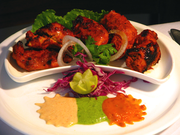 Tandoori Specialties served on hot plate